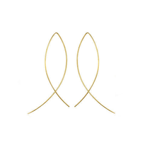 FISH HOOPS EARRINGS IN YELLOW GOLD