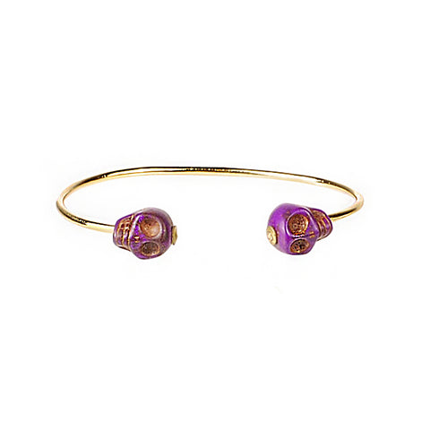 SKULL CUFF IN PURPLE