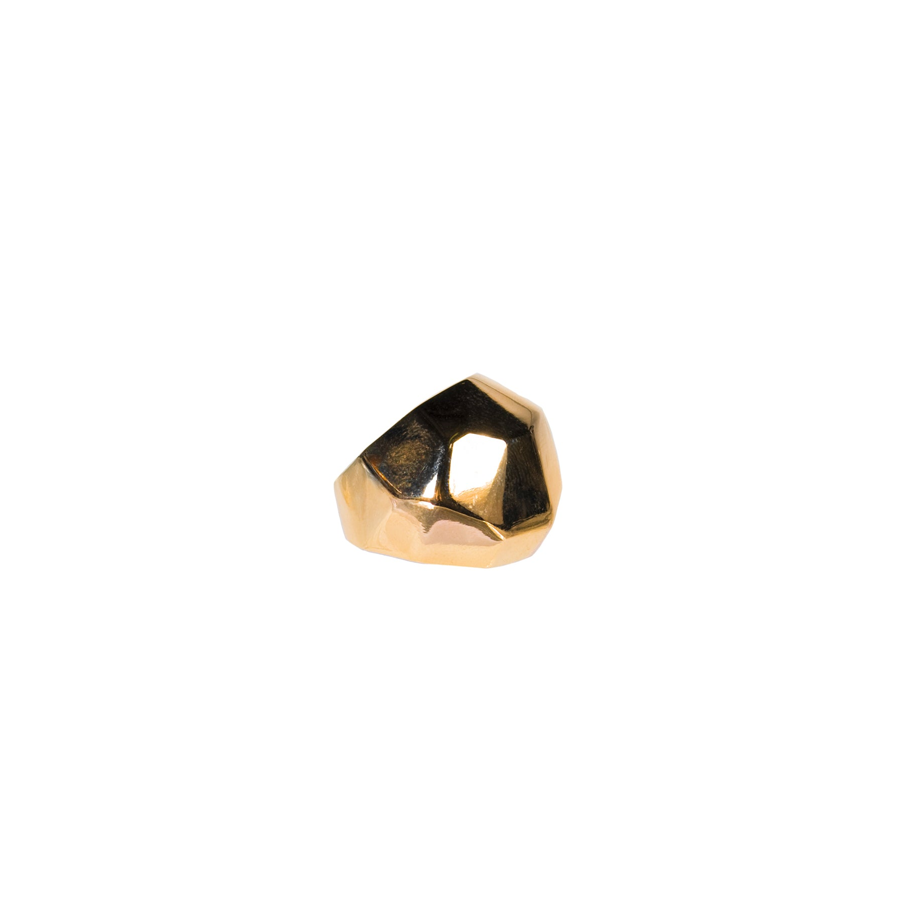 FACET COCKTAIL STATEMENT RING YELLOW GOLD