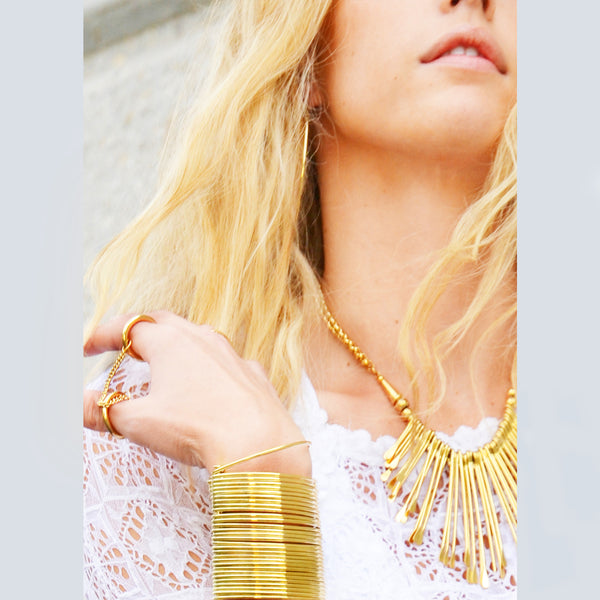 LONG CUFF IN GOLD