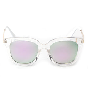 NAPLES SUNGLASS IN CLEAR
