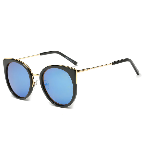 PALISADES SUNGLASS IN BLACK with BLUE LENSES