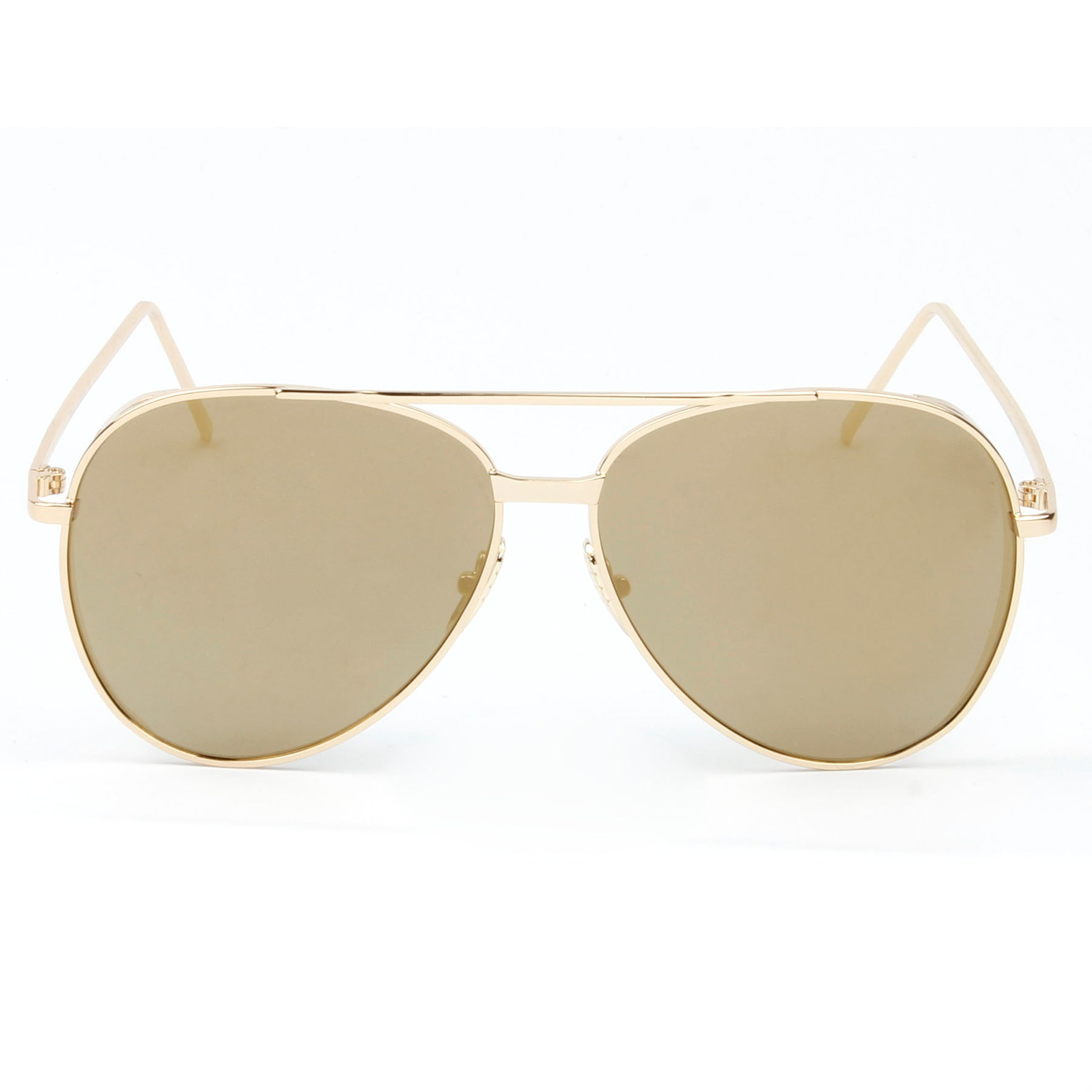RECIFE SUNGLASS IN GOLD WITH BROWN LENSES