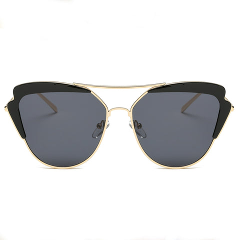 SANTORINI SUNGLASS IN BLACK AND GOLD