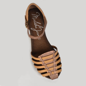 Malibu Jane comfortable vegan leather Laguna closed toe snake sandal