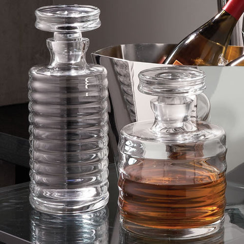 Tall Decanter- Ribbed