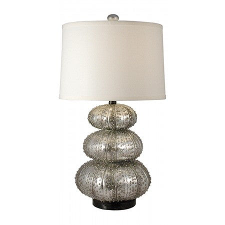 Stacked Silver Sea Urchin Lamp