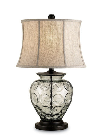 Recycled Glass and Bronze Table Lamp