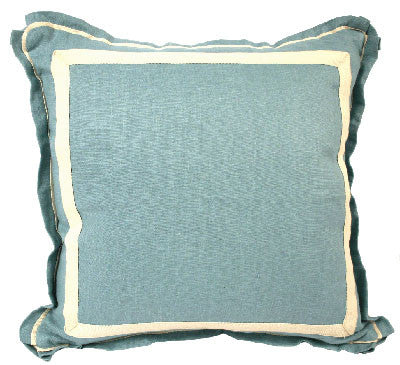 Linen Pillow with White Twill Tape