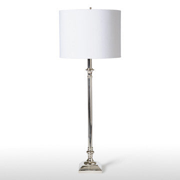 Silver Buffet Lamp