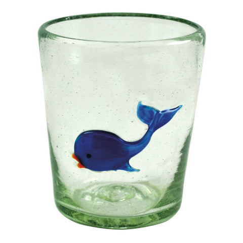 Whale Icon Double Old Fashioned Glass