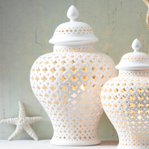 White Porcelain Covered Lantern