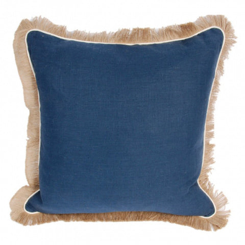 Linen Pillow with Jute Fringe