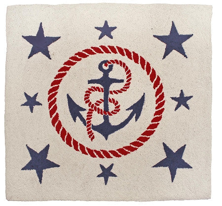 Anchor's Away Hooked Rug