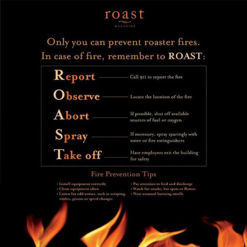 Roast Fire Prevention Poster - 100% Hot