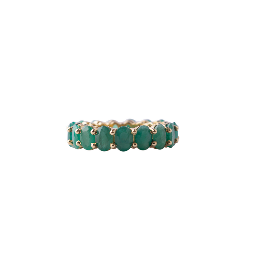 Emerald May eternity ring