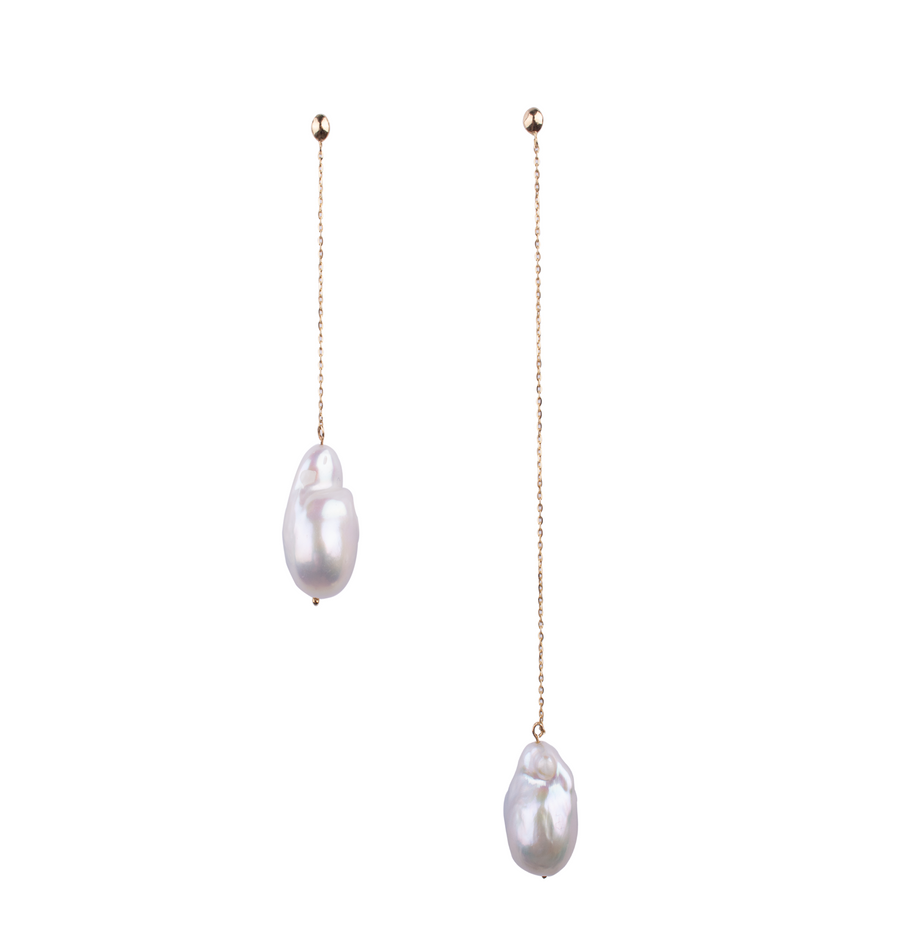 Lina Baroque Pearl Drop Earrings
