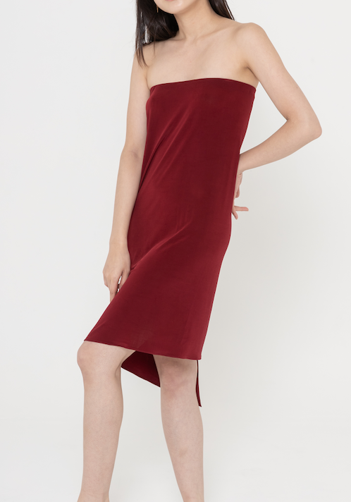 Sam strapless jersey dress