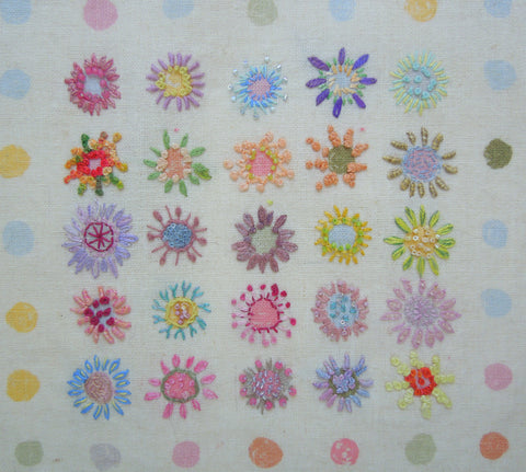 embroidered linen cotton fabric