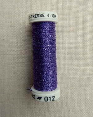 Metallic - Fine braided #4 - Color #012 (Violet)