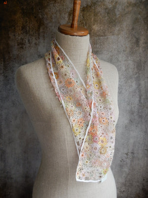"""Supernova"" small linen scarf"