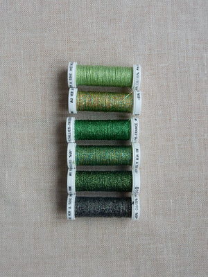 Metallic thread set- Shades of Green