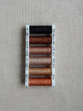 Metallic thread set - Shades of Copper