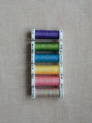 Metallic thread set- Flashy