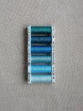 Metallic thread set- Shades of Blue