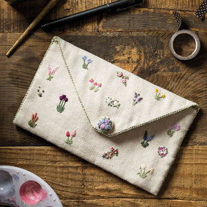 Embroidered Country Gardens Pencil Case