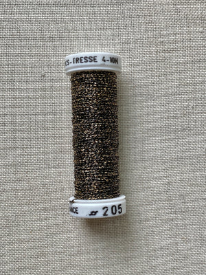 Metallic - Fine braided #4 - Color #0205 (Gold/Black)