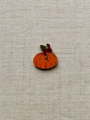 Orange Pumpkin Button