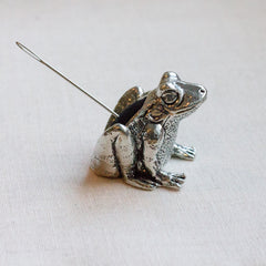 Pewter Pin Cushion Frog