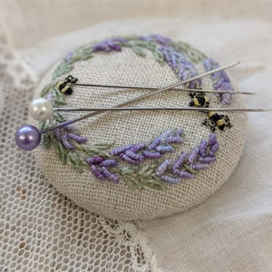 """Lavender and Bees"" Needleminder Kit"