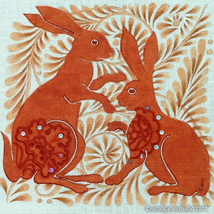 """Hares"" Embroidery Kit"