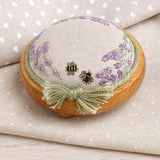 Lavender and Bees Pin Cushion Kit