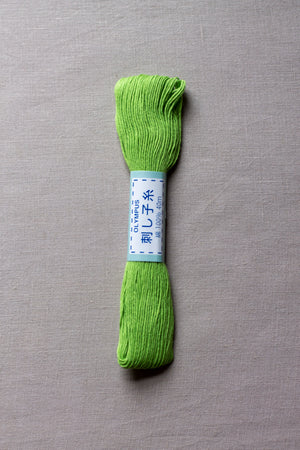 Sashiko thread #6 - Spring Green