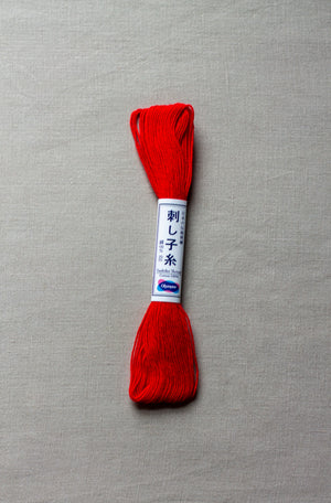 Sashiko thread #15 - Bright Red