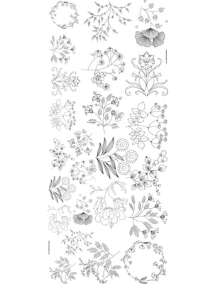Iron On Floral Transfers