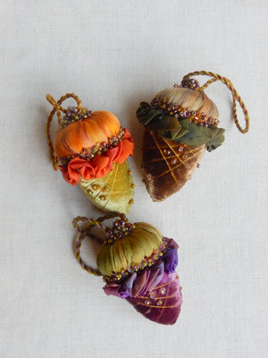 Velvet Acorn  Ornament Set Kit - Autumn Mix