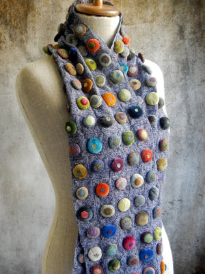 """Biscuit Pop Velours"" linen scarf"
