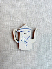 Coffeepot  button - blue