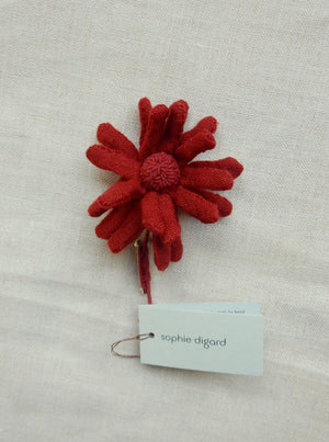 """Ola"" Brooch (Burgundy)"