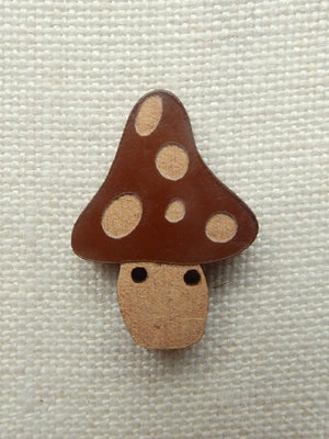 Mushroom - brown with tan dots