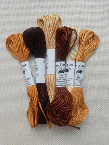 Soie d'Alger packs (browns)