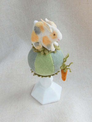 Small Rabbit on a Ball Pin Cushion