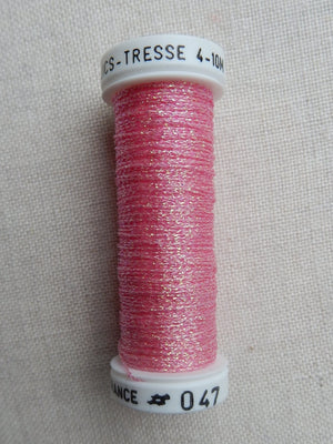 Metallic - Fine braided #4 - Color #47 (Cherry Pink)