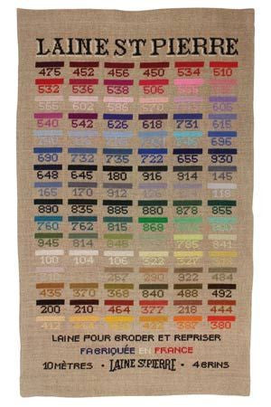 Full Collection St Pierre Wool, 96 colors and chart