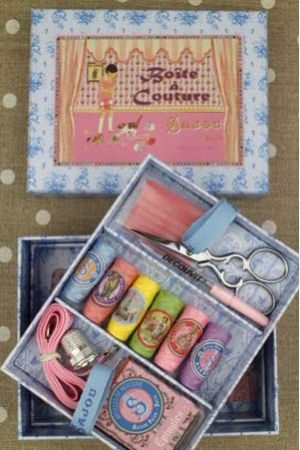 Girl and Cat Sewing Set
