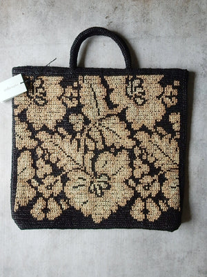 Cross stitch Raphia Tote bag